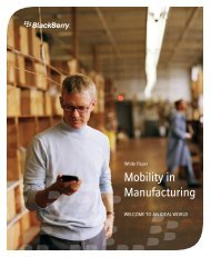 Mobility in Manufacturing