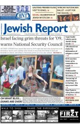 Israel facing grim threats for - South African Jewish Report