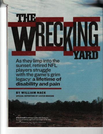 The Wrecking Yard Sports Illustrated.