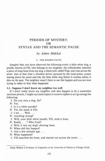 PERIODS OF MYSTERY - Rice University's digital scholarship archive