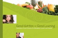 Good Nutrition = Good Learning booklet - Health and Social Services