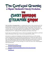 The Clocky Horror Steampunk Show - Filer