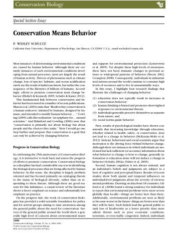 the absorbent mind essay special section essay conservation means behavior