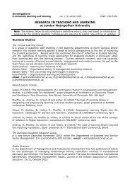 Investigations - London Metropolitan University