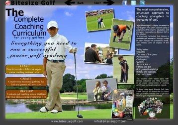 Coaching Curriculum Complete - Bitesize Golf