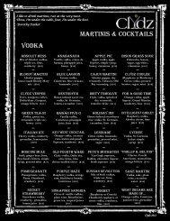 Vodka Martinis & Cocktails - Clydz