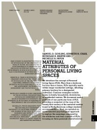 material attributes of personal living spaces - The University of ...