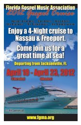 2012 Gospel Cruise - Florida Gospel Music Association