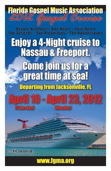 2012 Gospel Cruise - Florida Gospel Music Association