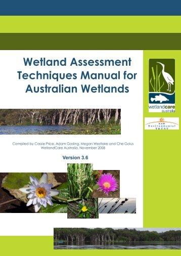 Wetland Assessment Techniques Manual for Australian Wetlands (V3
