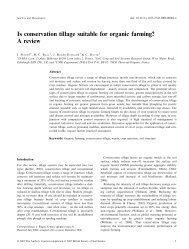 Is conservation tillage suitable for organic farming? A review - Isara