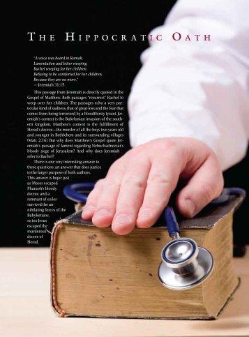 The Hippocratic Oath - Exodus Books