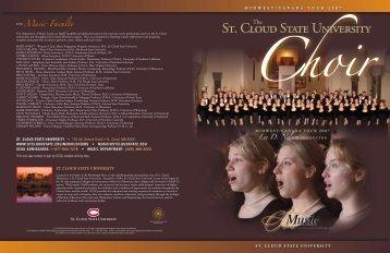 Concert Choir 2007 Tour Program - St. Cloud State University