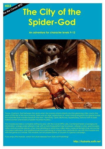 HD3 The City of the Spider-God - Hyborian Age - Xoth