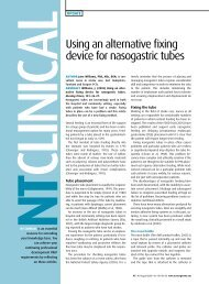 Using an alternative fixing device for nasogastric tubes