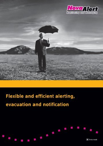Flexible and efficient alerting, evacuation and notification - NovaLink