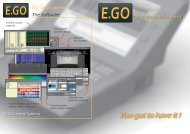 You got to have it ! - E.GO Controls