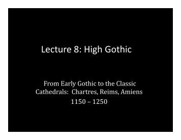 Lecture 8: High Gothic - School of Architecture and Planning