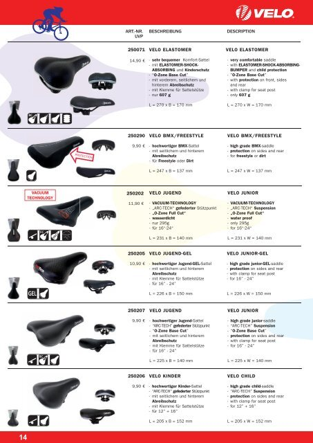 VELO - Products 2011