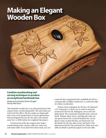 Making an Elegant Wooden Box - Zongkers Handcrafted Furniture
