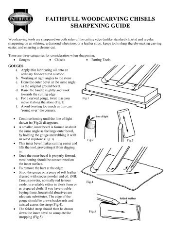 Wood Carving Chisel Sharpening Guide - Faithfull Tools