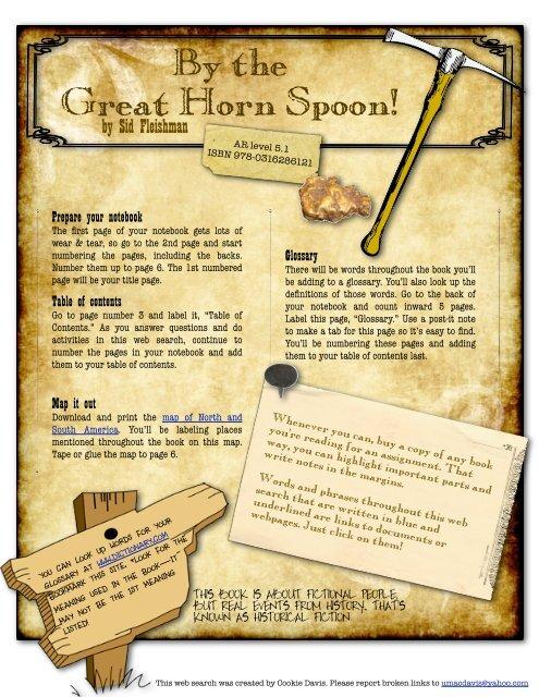 great horn spoon