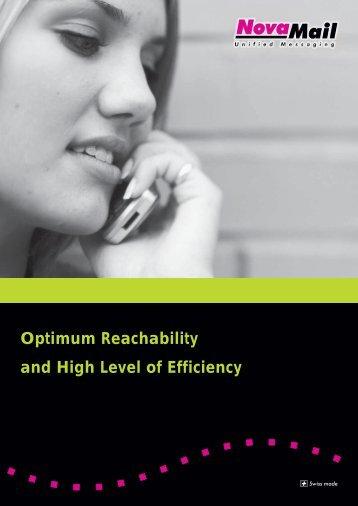 Optimum Reachability and High Level of Efficiency - NovaLink