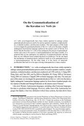 On the Grammaticalization of the Kavalan SAY Verb zin