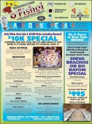10K SpecIAl $995 Lame Duck specials - Baltimore Jewish Life