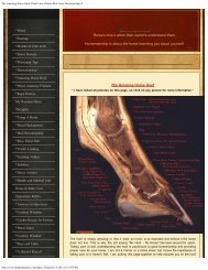 Amazing Horse Hoof Page - Think Like a Horse-Rick Gore ...