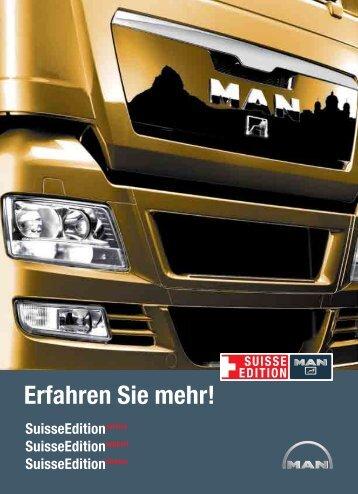 Folder SuisseEdition - MAN Nutzfahrzeuge (Schweiz)