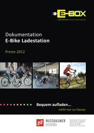 Preise 2012 «E-Box - Nussbaumer Elektro Zug AG