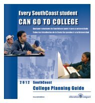 CAN GO TO COLLEGE - University of Massachusetts Dartmouth