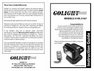 Golight® Model 5149/5167 Instruction Guide - Emergenza e Soccorso