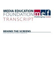 FOUNDATION TRANSCRIPT - Media Education Foundation
