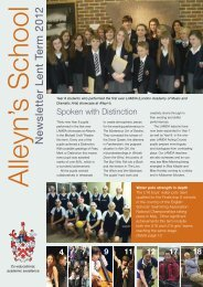 Lent 2012 - Alleyn's School