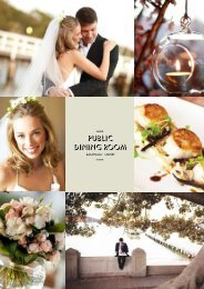 weddings brochure - Public Dining Room