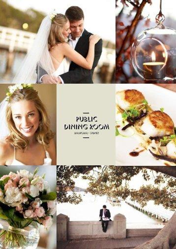 weddings brochure - Public Dining Room