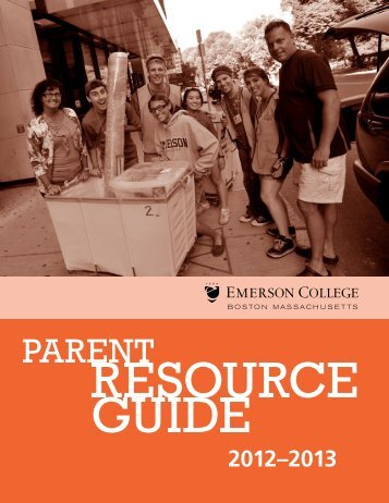 Parent Resource Guide (PDF) - Emerson College