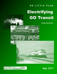 NO LITTLE PLAN: Electrifying GO Transit - Transport 2000 Canada