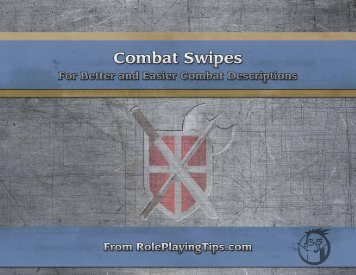 Combat Swipes - Roleplaying Tips