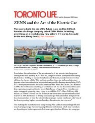 ZENN and the Art of the Electric Car - ZENN Motor Company