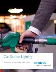 Download the gas station lighting brochure - Philips Lighting