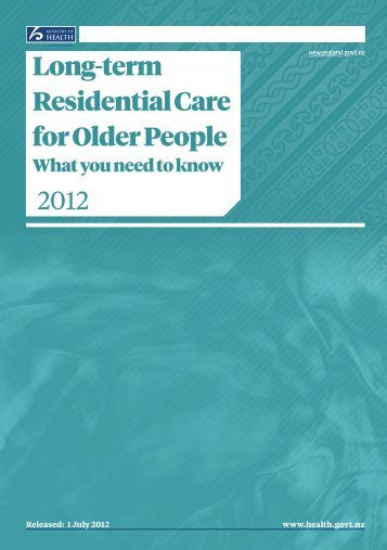 Long-term Residential Care for Older People: what you need ... - Bupa