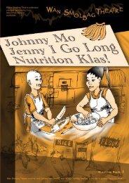 Nutrition Book 1 - Johnny Mo Jenny I Go - Wan Smolbag Theatre