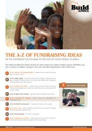 The A-Z of fundrAising ideAs - Build Africa
