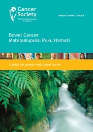 Bowel Cancer Booklet - Cancer Society of New Zealand