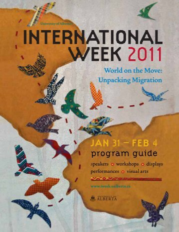 International Week 2011 Program Guide - University of Alberta