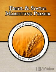 AWeber's Natural Products Marketing Guide.4