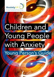 Children and Young People with Anxiety - Anxiety UK